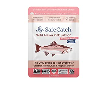 Safe Catch Wild Alaska Pink Salmon, 12 pack (3oz pouch) - No Salt Added