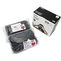 PISEN 100 Pack Disposable Adult Black Face Masks Non-Medical (100, 100 Pcs Black)