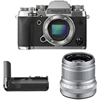 Fujifilm X-T2 Mirrorless Digital Camera (Graphite) w/ XF50mm F2 Silver Lens & Vertical Power Booster