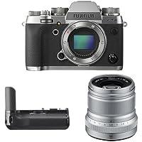Fujifilm X-T2 Mirrorless Digital Camera (Graphite) w/ XF50mm F2 Silver Lens & Vertical Power Booster