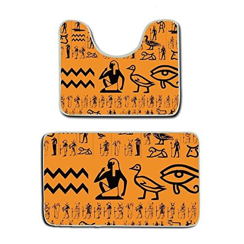 Choose Pedestal Sink Color (SWEET TANG Ancient Egypt Clipart Non Slip 2 Piece Bathroom Mat Pedestal Rug Bath Mat Customized Artwork Print)
