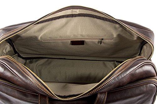 Tasche PIERRE CARDIN braun leder reiseitasche für reise mit trolley VM1