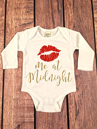 Kiss me at Midnight Bodysuit, New Years Bodysuit, 2018 New Year Shirt, New Year Celebration Shirt, New Years Eve Outfit, Baby Girl New Years