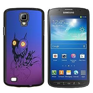TECHCASE---Cubierta de la caja de protección para la piel dura ** Samsung Galaxy S4 Active i9295 ** --Divertido Robot del búho del corazón