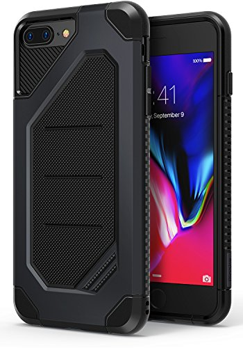 Ringke MAX Compatible with Apple iPhone 7 Plus, iPhone 8 Plus Phone Case Advanced Dual Layer Heavy Protection [Shock Absorption Technology] Armor Strength Protective Cover - Slate Metal