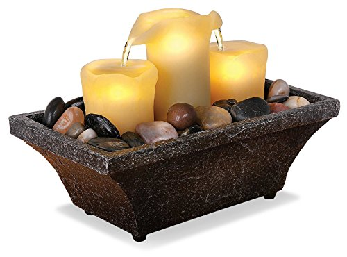 Order Home Collection Apothecary Flameless LED 3-Candle Fountain