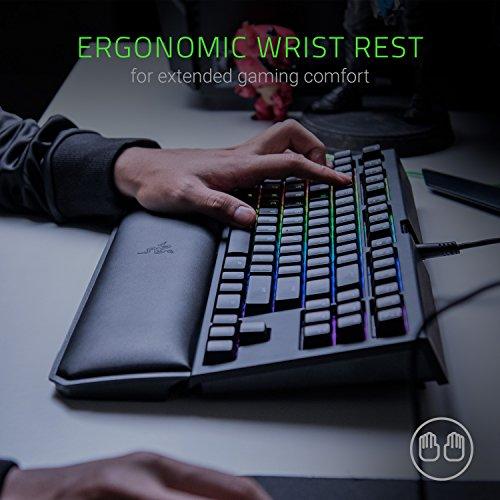 Razer BlackWidow Tournament Chroma Esports Keyboard Ergonomic Rest - - Switches