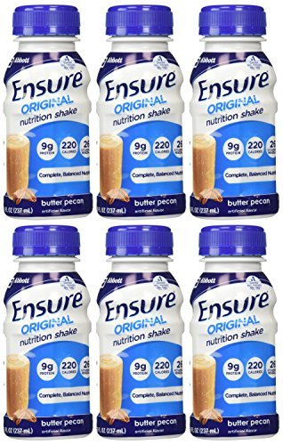 Ensure Balanced Nutrition Shake Butter Pecan 6-8 Fluid Oz Bottles by Ensure ()