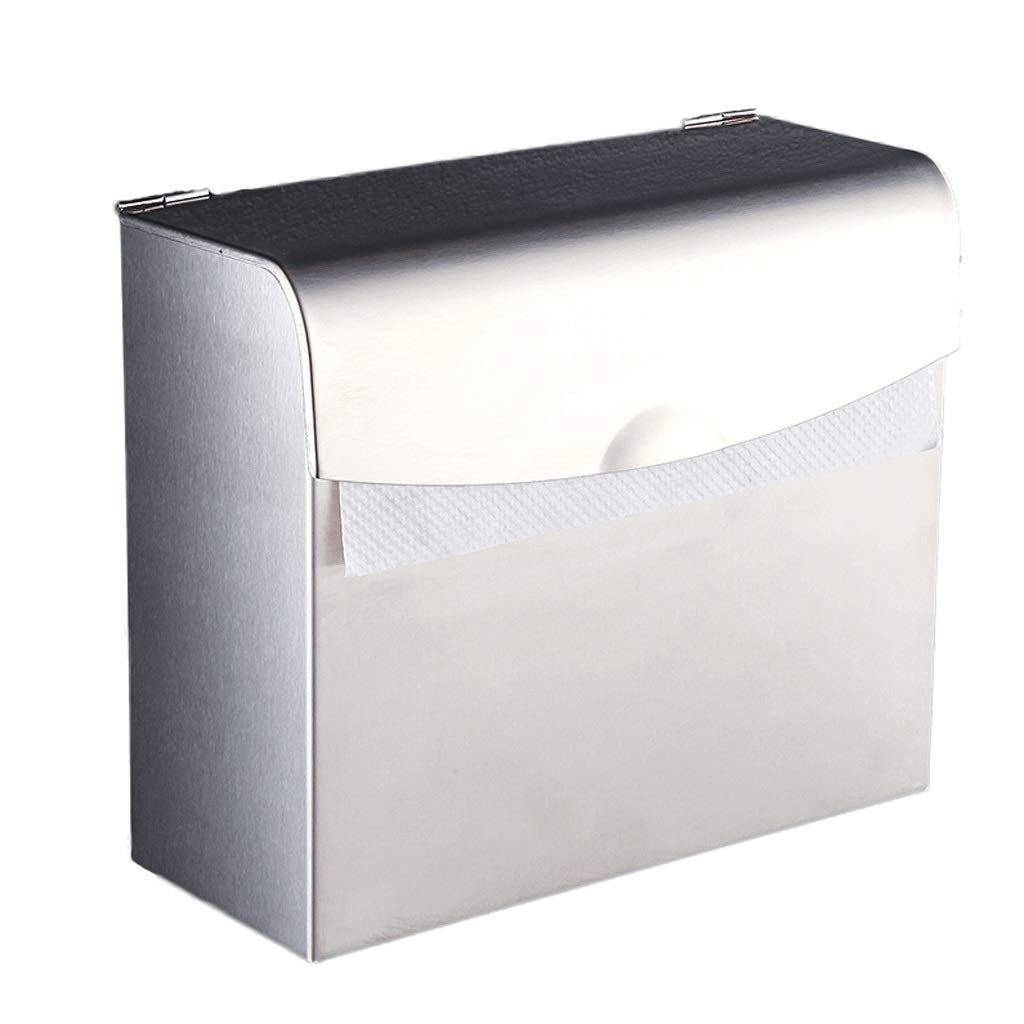 ZYN 304 Stainless Steel Tissue Box - Big Grass Tray Silver Hand Tray Grass Carton Paper Towel Holder Roll Holder Bathroom Fittings