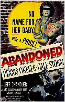 Amazon.com: Abandoned - 1949 - Movie Poster: Posters & Prints