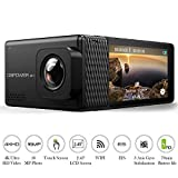 DBPOWER EX7000 PRO 4K Action Camera 2.45'' LCD Touchscreen Underwater Camera with 16MP Sony Image Sensor Waterproof Sports Cam and 170° Wide-Angle Lens 2X Rechargeable Batteries
