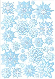 Blue Snow Flakes Wall Stickers / Snowflake Wall Decor In Ice Blue / 32 Snowflake  Wall