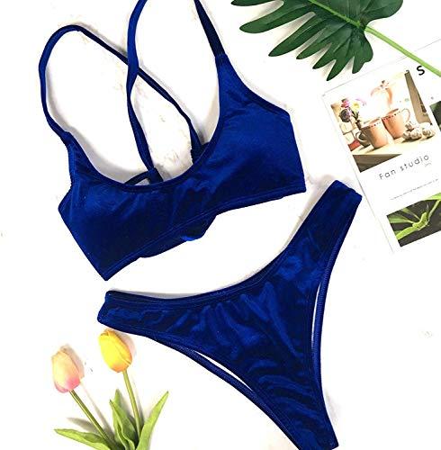 Blue Dimensione New Velvet Bandage Fuweiencore colore Bikini M The Navy OzZqx1w0