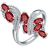 Women Fashion Jewelry 925 Sterling Silver Ruby Gem Wedding Bridal Ring Size 5-11#by pimchanok shop (8)