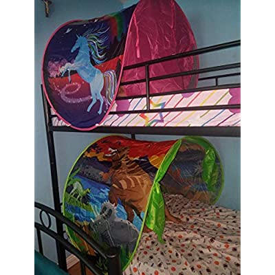 Yeahs Shop Kids Dream Bed Tent - Magical Dinosaur Bed Tent Pop up Playhouse Castles for Birthday Party Room Decor Boys & Girls: Toys & Games