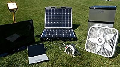 Peppermint Energy Forty2Max Solar Generator Renewable Energy System 1000W/110V Emergency Solar Battery Charger/Power Source Kit