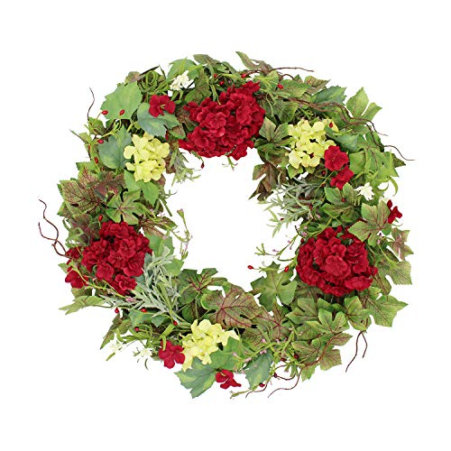 The Wreath Depot Belmont Silk Decorative Front Door Wreath 24 Inch