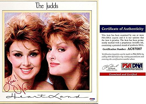Naomi Judd Autographed Signed Heartland LP Record Album Cover with PSA/DNA Authentic - The Judds