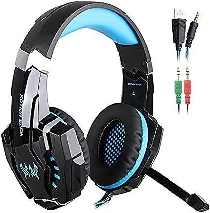 EACH G9000 3.5mm Gaming Stereo Headset USB LED Light Headphone w Mic for Gamers