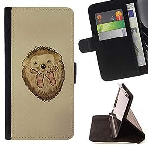 Momo Phone Case / Flip Funda de Cuero Case Cover - Erizo espinas animal lindo del dibujo del arte - Sony Xperia Z3 D6603