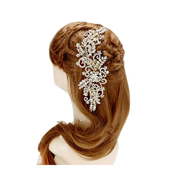 Rosemarie-Collections-Womens-Bridal-Comb-Headpiece-Floral-Crystal-Spray