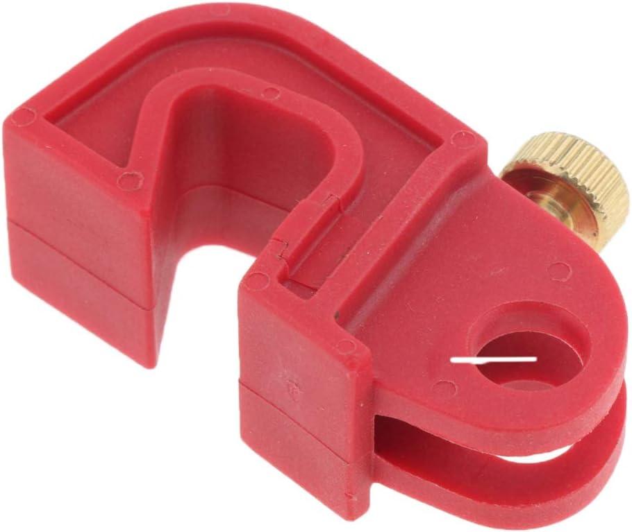 Sicherungssperre F/ür Universal Leistungsschalter Rot Mit Gedrehter Schraube