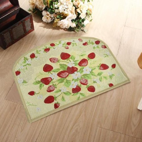 Area Rugs 18 X 24 X 0 2 Inch Cliab Strawberry Kitchen Rugs Home Kitchen