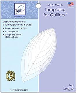 June Tailor Mixn Match Templates for Quilters 6/Pkg-Leaf