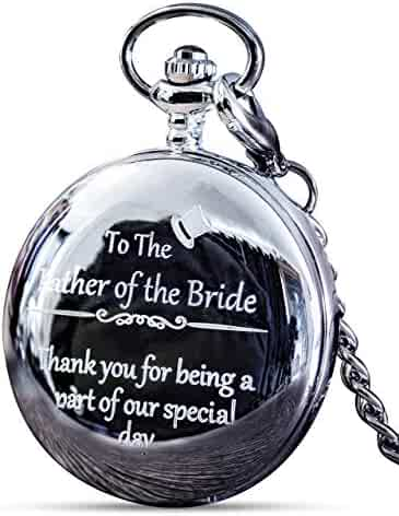 Father of The Bride Gifts - Engraved Father of The Bride Pocket Watch - The Luxury Wedding Gift Choice