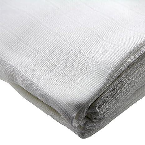 Baumwoll-Stoffwindeln 140g//m2 weiss 10er Pack Windeln Baumwolle Stoff Baby