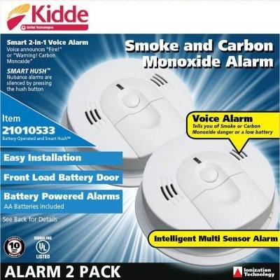 Kidde Intelligent Battery Operated Combination Smoke and CO