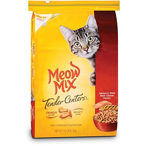 Meow Mix Tender Centers Salmon and Chicken Dry Cat Food 13.5-Pound
