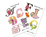 Alphabet Letters Stickers (Floral_Glossy)
