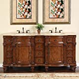 Silkroad Exclusive Bathroom Vanity HYP-0722-T-UIC-72 Esther 72''