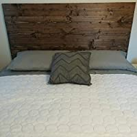 Queen Dark Walnut Rustic, Chic Wood Headboard