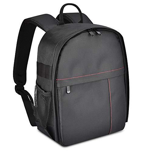 (UTEBIT DSLR Camera Bag Waterproof Foldable DSLR Laptop Backpack Portable Black Lens Back Pack for Cameras Lens Notebook or Tablet Computer Storage Folding Knapsack Compatible for Sony and More DSLR)