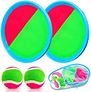 Ayeboovi Velcro Toss and Catch Ball Set with Sticky Nylon Catch Balls for Outdoor Games Gift for Kids