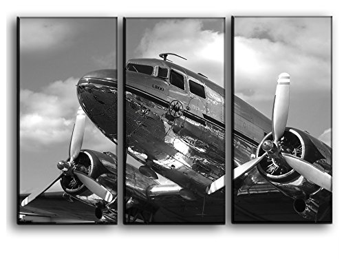Airplane Canvas Art / Aircraft Canvas Wall Art / Vintage Plane Picture / Propeller Wall Canvas Art / Wall Home Decoration / Aviation Wall Art / Print Poster Picture 22 by 33 Inches ()