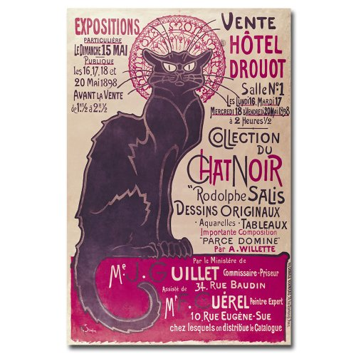 Collection du Chat Noir by Theophile Steinlen, 16x24-Inch Canvas Wall Art