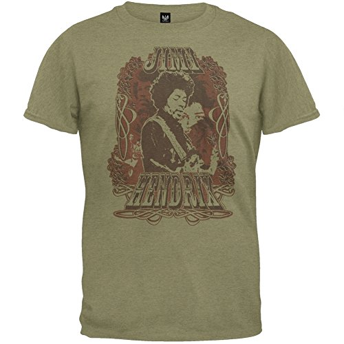 Soft Collagen (Jimi Hendrix - Collage Soft T-Shirt Small Green)