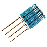 Titanium Plating Blue 4Pcs Hex Screwdriver Screw Driver Tool Kit Set for RC Car Aircraft Toys Repair