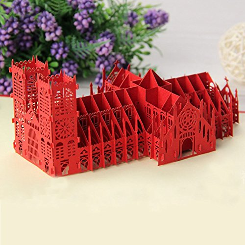 3D Church card Valentine's Day greeting cards gifts building model Greeting Gift Cards Blank - Send Canada Gift E Card