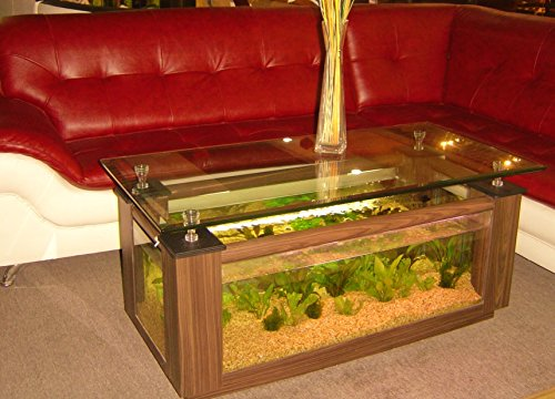 36gl rectangle coffee table aquarium completely fish ready with hidden filter and led lights - Fish tank dining room table ...