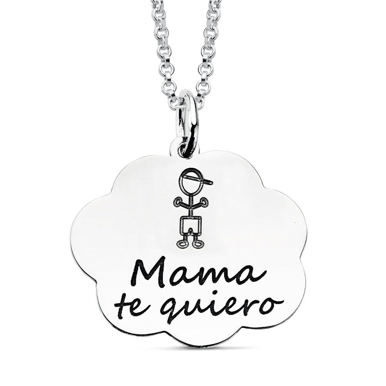 Iyé Biyé Jewels Collar mujer plata de ley nube mamá te quiero