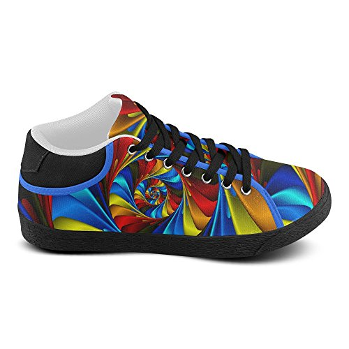 Artsadd Psychedelic Rainbow Spiral Chukka Canvas Shoes For Men (Model003) dzN6rZQ13