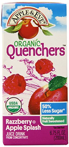Apple & Eve Organic Quenchers, Razzberry Apple Splash, 6.75 Fluid-oz., 40 Count