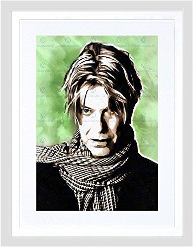The Art Stop Painting Portrait POP Star Musician David Bowie Framed Print F12x9761