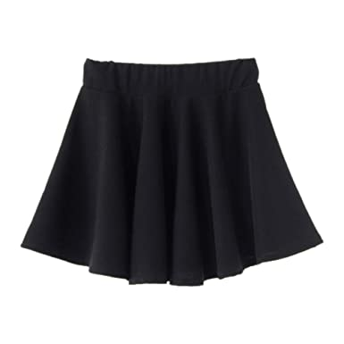 58fbff90180e LifeWheel Women Lady Sweet Short Princess Skirt High Waist Pleated Mini  Skirt Black: Amazon.co.uk: Clothing