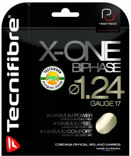 Tecnifibre X-One Biphase Tennis String Set-Natural-17 ()