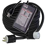 Powertronics Connections 100ft 30 amp Gen cord with P100 100-Feet 30-Amp Generator Power Cord and Probe Plus 100 Power Line Monitor